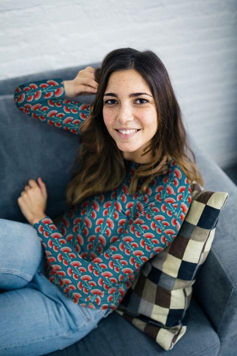 Fabrik der Träume: Kostenlose Nähanleitung und Schnittmuster für ein Damen Langarmshirt