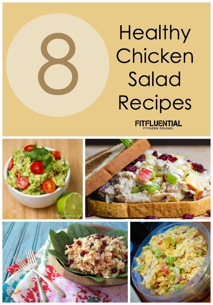 8 Healthy Chicken Salad Recipes #FitFluential #healthy #salads #healthyliving