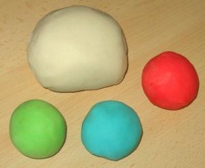 homemade, edible playdoh