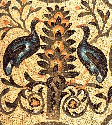 Aquileia, Italy - mosaic in hellenistic style (detail)