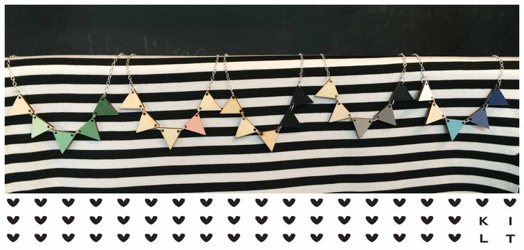 New bunting necklaces at KILT