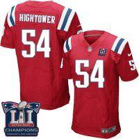 Men's New England Patriots #54 Dont'a Hightower Red Alternate Super Bowl LI Champions Nen Elite Jersey