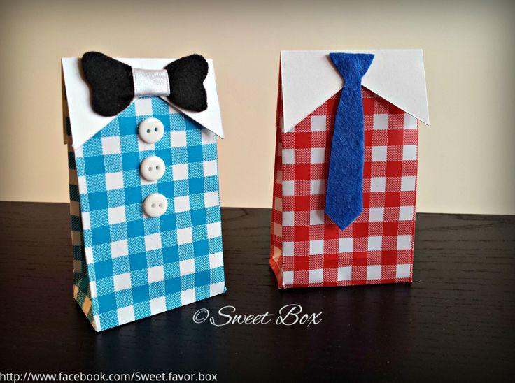 Men's shirt favor box gift box