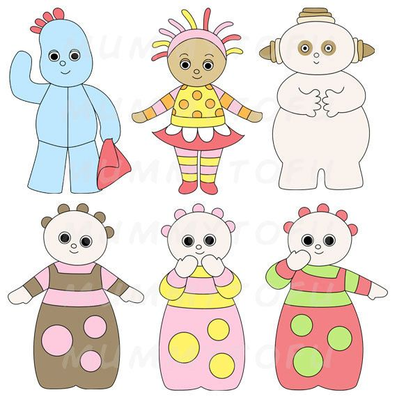 In The Night Garden character printable cut-outs