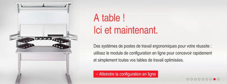 Des postes de travail ergonomique et facile a mettre en place c'est ce que vous propose mon fournisseur, Item24  Retrouvez plus d'information ici : http://www.item24.fr/fr/home.html