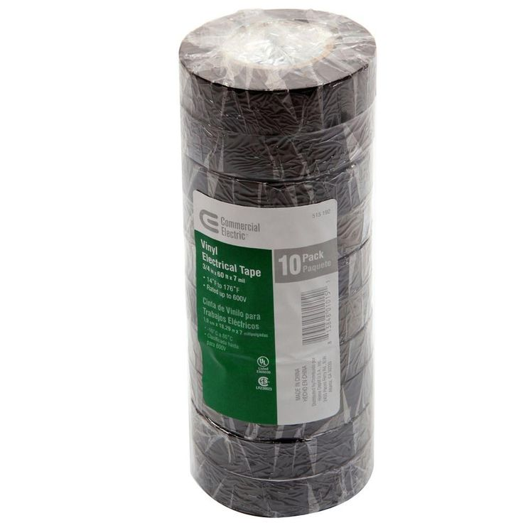 Commercial Electric 7 mil Vinyl Electrical Tape - Black (10-Pack)