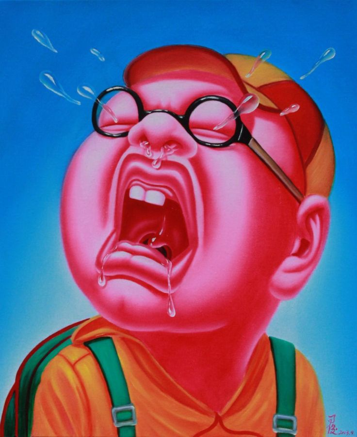 Paintings by Yin Jun: Crying 38.jpg