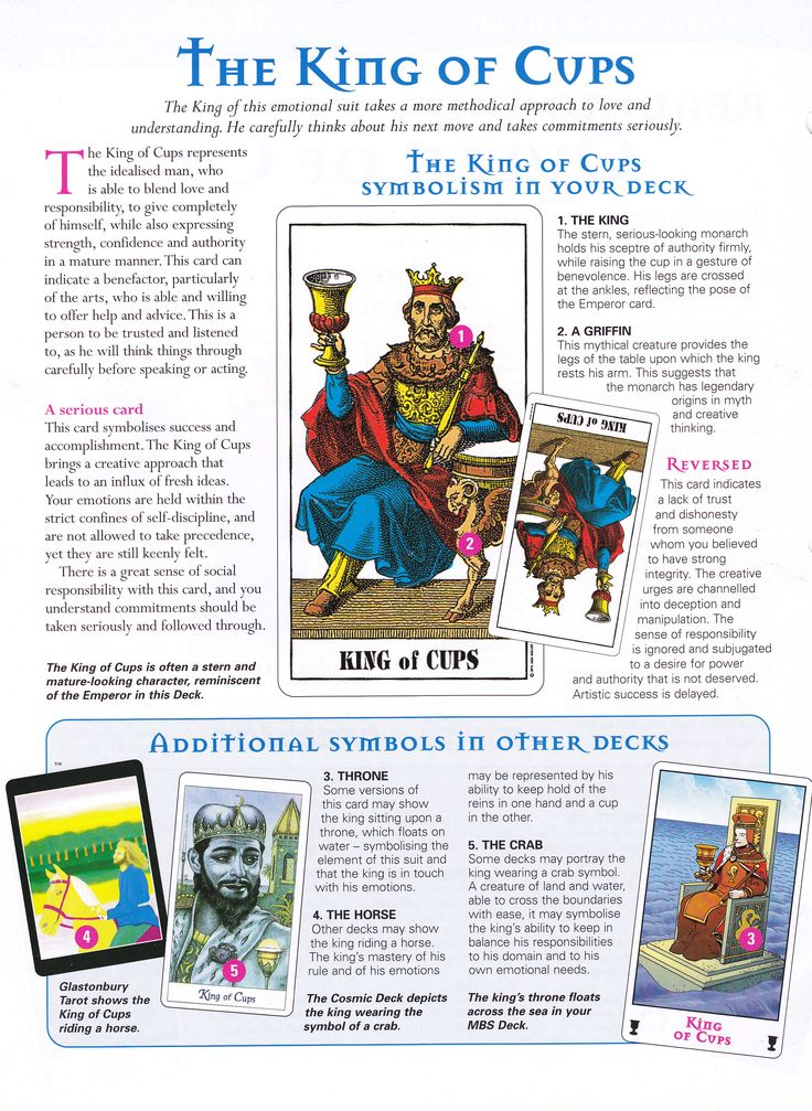 king of cups meaning in relationship
