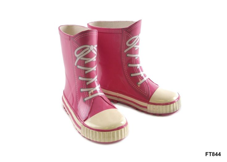 Mud Rocks Big Girls' Rubber Rain-Boots 11 Uk Child Pink. Kids Pink Lace Trainer Style Wellies. These wellies are made to look like trainers, with laces printed onto the front of each welly. Made from a Rubber mix to ensure your feet stay dry and warm. Available in the following sizes - UK 10 (Euro 28), UK 11 (Euro 30), UK 12 (Euro 31), UK 13 (Euro 32), UK 1 (Euro 33), UK 2 (Euro 35).