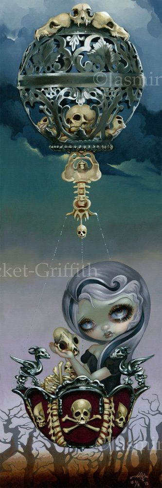 Bone Chariot Jasmine Becket-Griffith BIG CANVAS PRINT 01 goth fairy big eye art in Art, Direct from the Artist, Other Art from the Artist | eBay