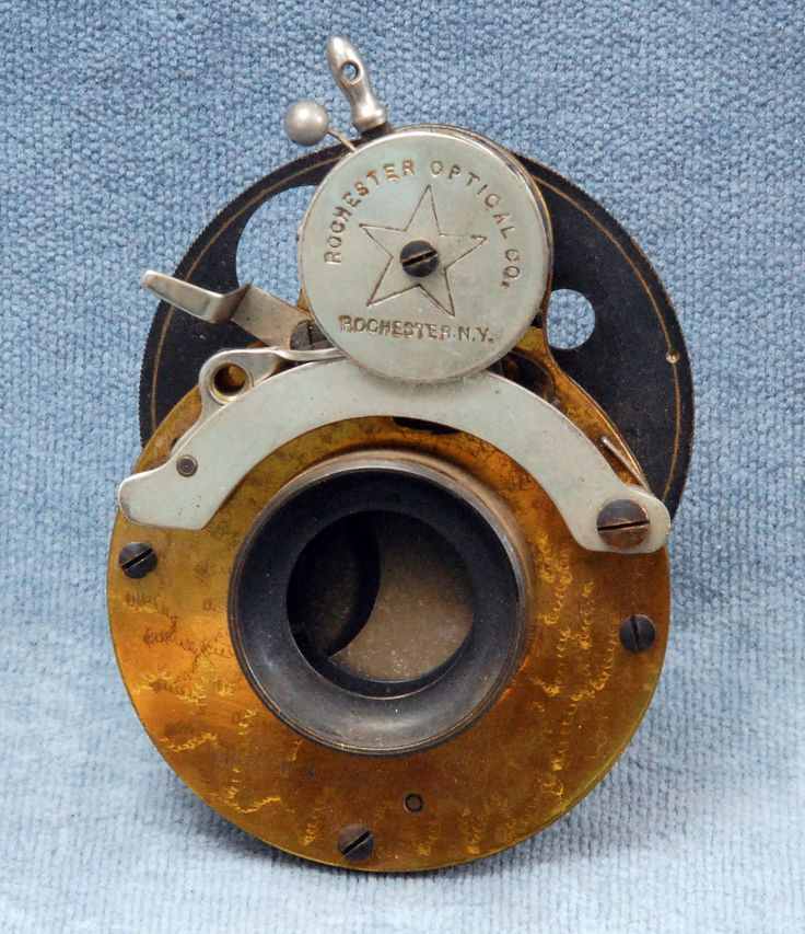 Old Brass B&L Rochester Optical Shutter w Lens