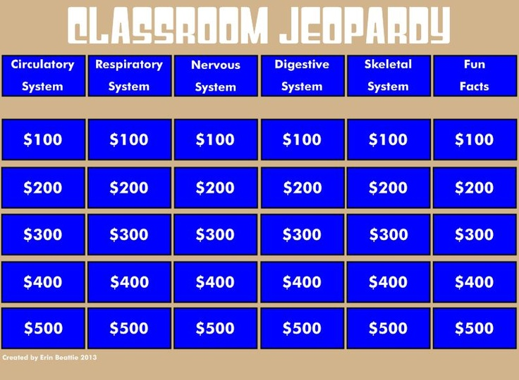 30 best Human Body Systems images on Pinterest School, Science - sample jeopardy powerpoint