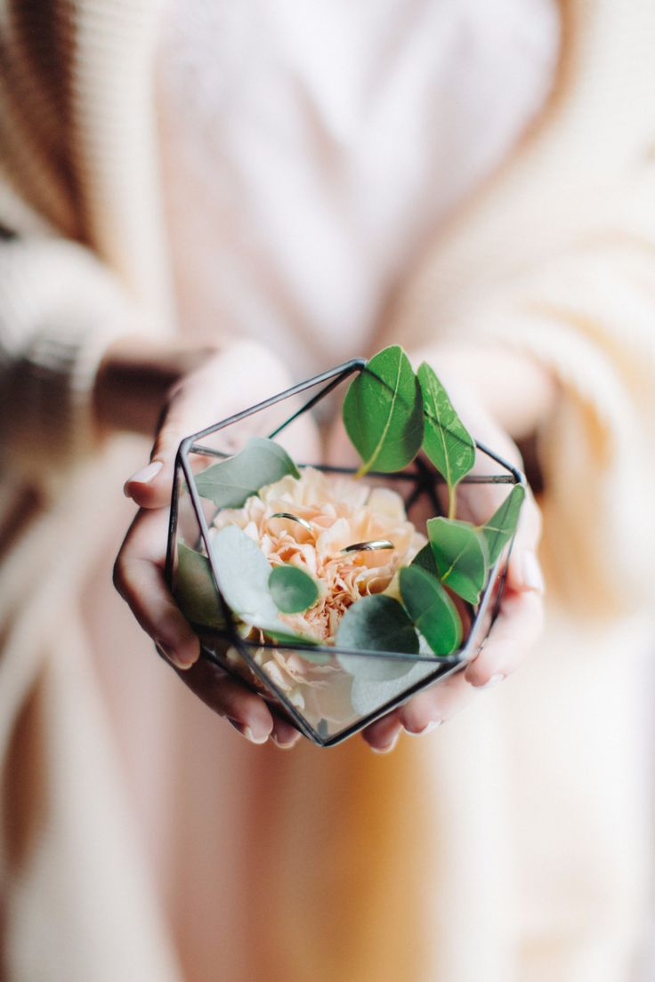 Aufbewahrung für die Eheringe zur Hochzeit. Kleines Terrarium – zu finden auf E…