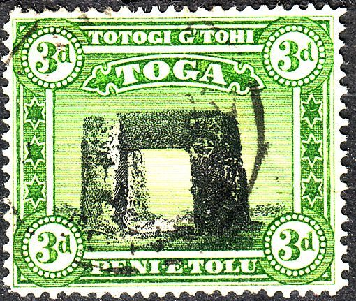 Tonga 1942 PrehistoricbTrilit at Haamong SG 78 Fine Mint SG 78 Scott 77 Other British Commonwealth Empire and Colonial stamps Here
