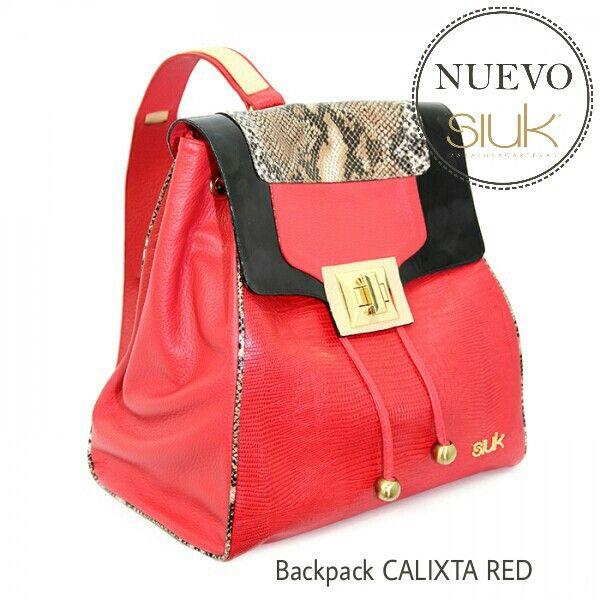 Backpack CALIXTA RED,  colección UNIQUE
