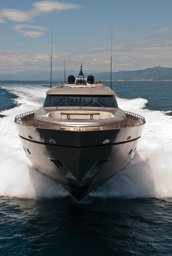 116 Super­yacht. Designed by AB Yachts. Launched in 2009. Maiden voyage across the Pacific.