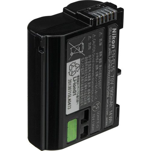 Nikon EN-EL15 Lithium-Ion Battery (1900mAh) 27011 B&H Photo