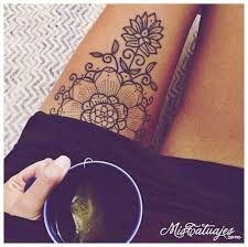 Resultado de imagen para tatuajes en la pierna para mujer