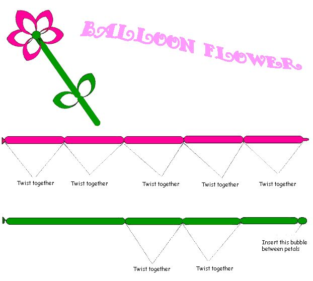 Soft image intended for balloon modelling instructions printable