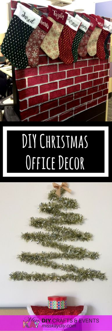 DIY Christmas Office Decor Ideas for the employee on a budget.  By MissKay DIY