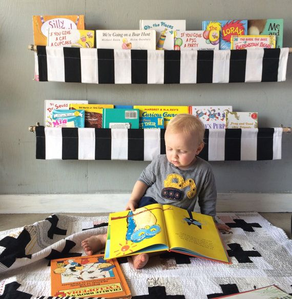 The 25 best book sling ideas on pinterest fabric bookshelf how black and white striped book sling you choose by bluehousejoys solutioingenieria Choice Image