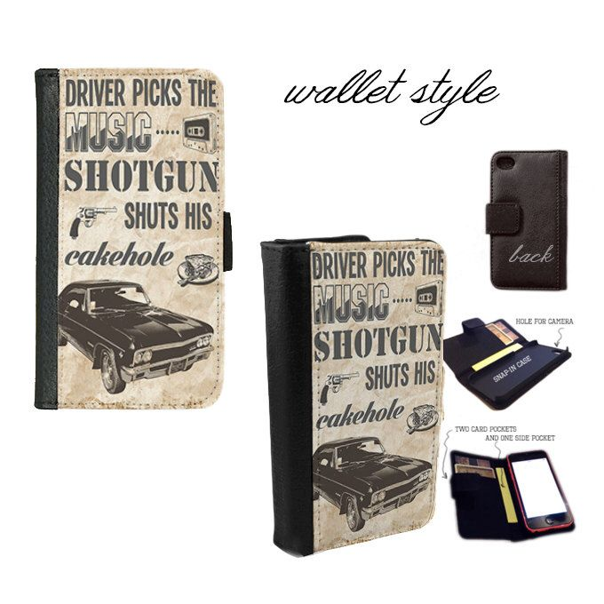 Quote Driver picks the music Supernatural inspired case for iphone 4 4s 5 5s 5c 6 plus Galaxy S3 S4 S5 (plastic snap on, leather wallet) by RedPhoenixAcc on Etsy https://www.etsy.com/listing/207483977/quote-driver-picks-the-music