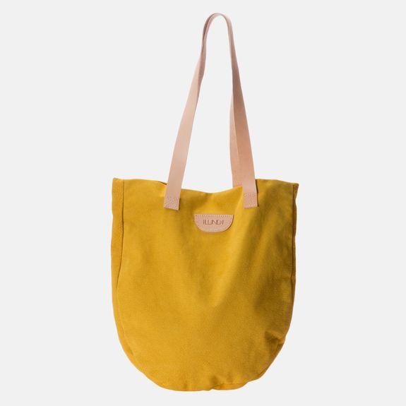 Ilundi - Suede Tote Bag – Yellow