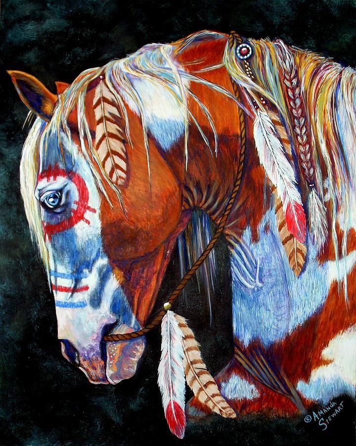 Indian War Pony Painting  - Indian War Pony Fine Art Print