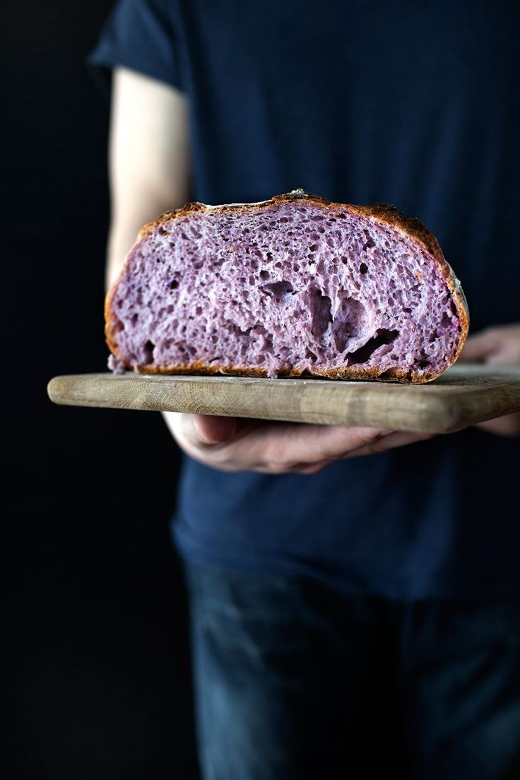 The blushing boule | purple yam country bread.