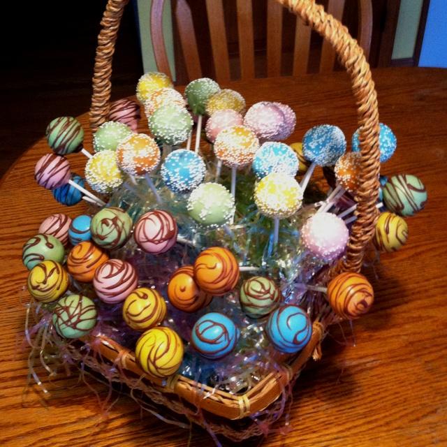Cake pop Easter Basket: Cake Pops, Easter Baskets, Pop Easter