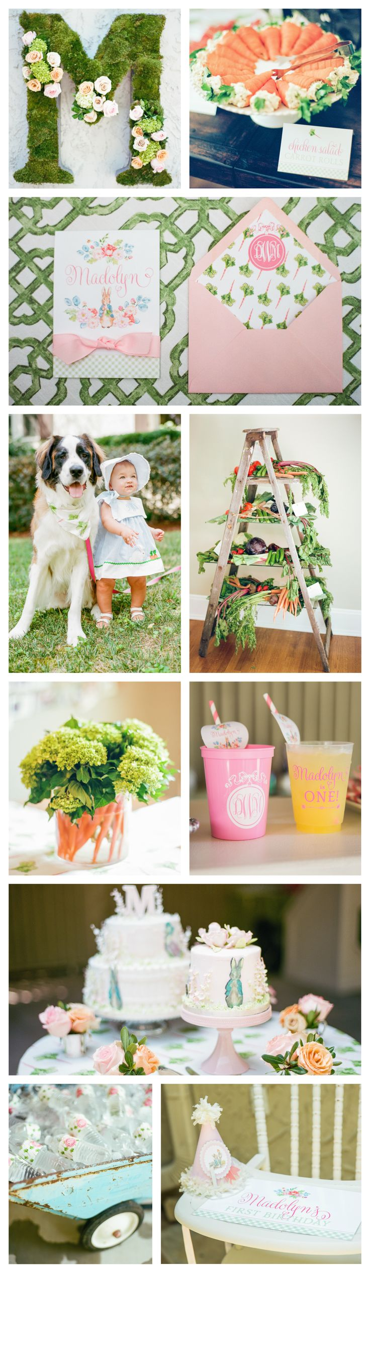 Madolyn's Peter Rabbit Themed First Birthday by Nico and Lala