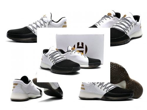 f6c74ae967eb Cheap sneakers Adidas Harden Vol.1 One Disruptor BW0552 White Black Gold  James Harden shoes 2017