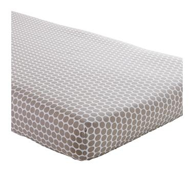 Khaki Dot Crib Fitted Sheet in Crib Fitted Sheets