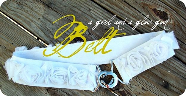 DIY Belt - so simple!: Easy Hot, Glue Guns, Flowers Ribbons, Glu Belts, Diy Clothing, Hot Glue, Easy Diy, Fabrics Flowers, Flowers Belts