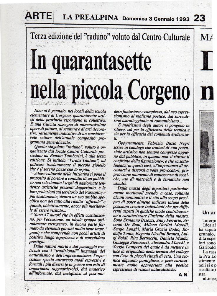 1993 Giornale La Prealpina Varese