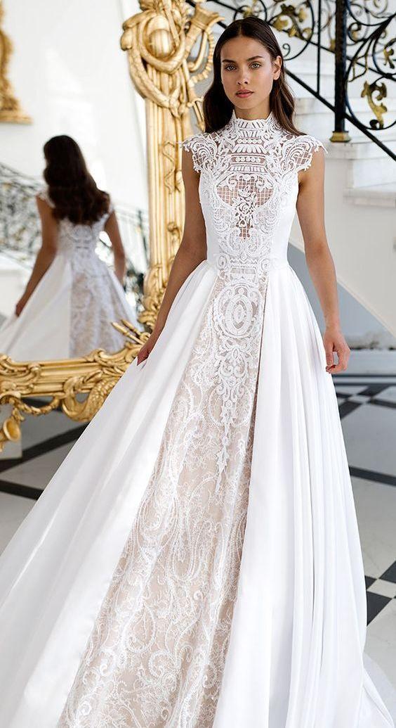 70+ Victorian High Neck Style Wedding Dresses Ideas 44 ...