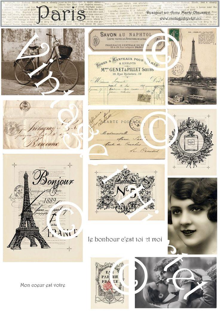 Her vil jeg legge ut de søte bildene i vintage stil som jeg har brukt på mine kort. De er alle funnet på nettet, uten opphavsrett - og du st...