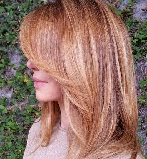 The 25 best strawberry blonde highlights ideas on pinterest layered strawberry blonde hair with highlights pmusecretfo Image collections