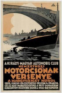 KMAC nemzetközi motorcsónak verseny Margitsziget körül