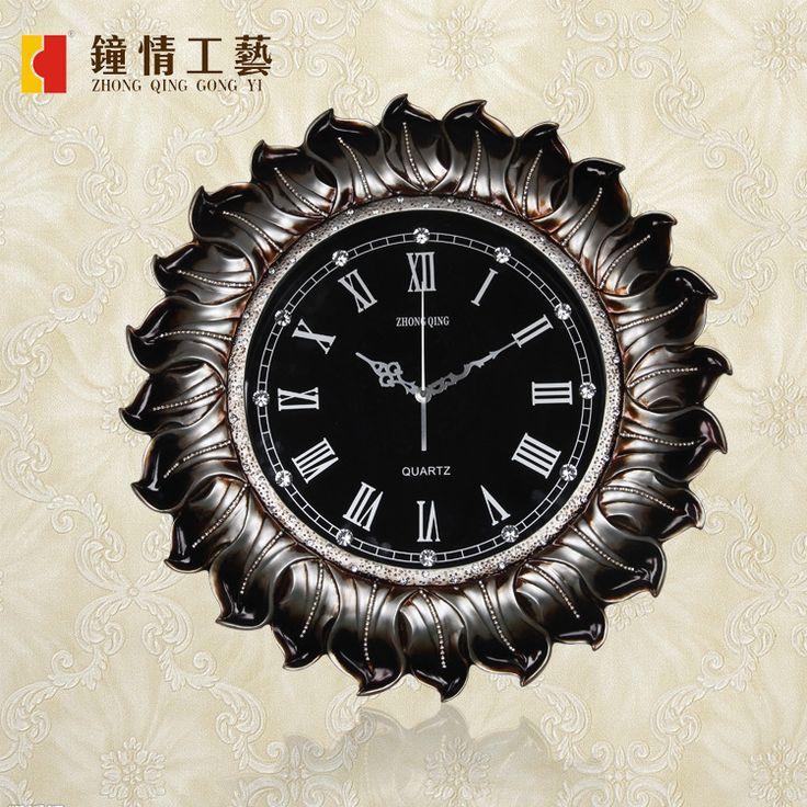 Clocks Wall clock Home decoration Continental wall clock creative personality Home Furnishing decorative diamond technology