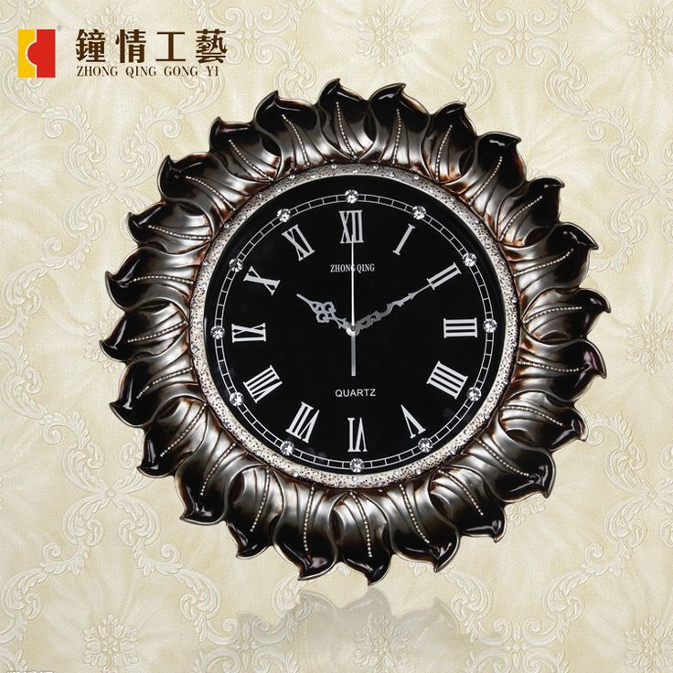Clocks Wall clock Home decoration Continental wall clock creative personality Home Furnishing decorative diamond technology