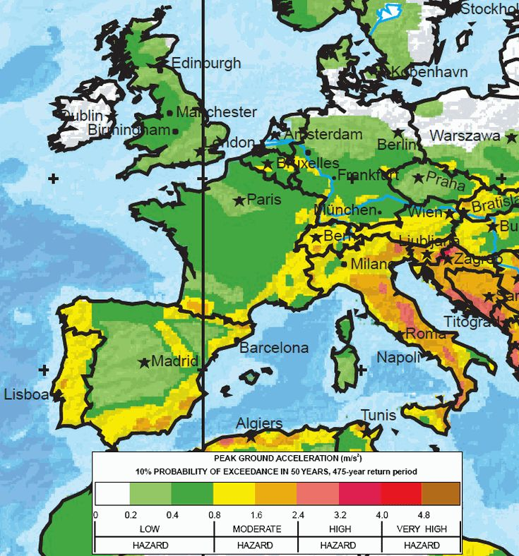 The Greatest Earthquake Zones on Earth: Europe