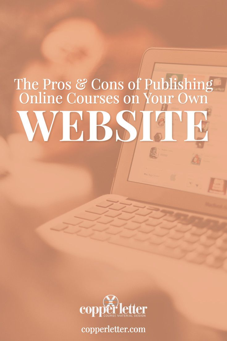 Going over some of the pros and cons of hosting your online courses on your own website so you can decide if it's the right choice for you.