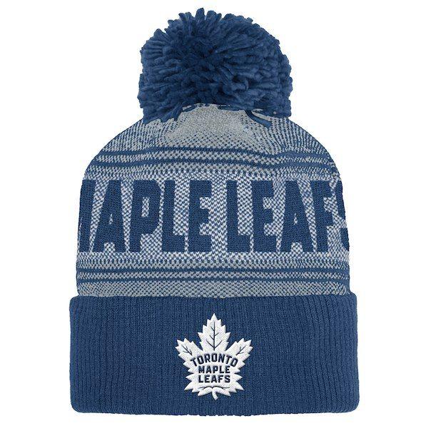 dea42d2f614 Men s Toronto Maple Leafs adidas Blue - Cuffed Knit Hat with Pom ...