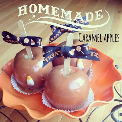 The Carver Crew: Homemade Caramel Apple Recipe- uses candy thermometer and no premade caramels