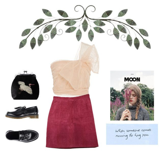 """Running to hug you"" by vesleku on Polyvore featuring RED Valentino and Dr. Martens"