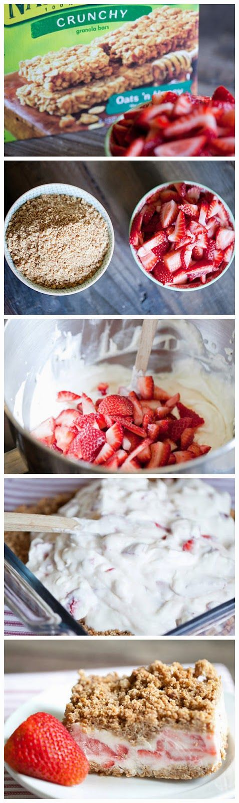 Frozen Strawberry Crunch Cake - simplexfood