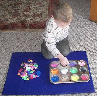 Great for learning colors. Color sorting activityFoam Sheet, Kindergarten, Through