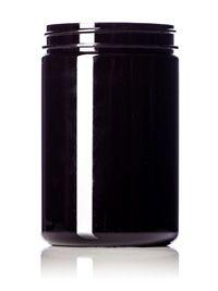 25 oz Dark Amber PET Single Wall Jar 89-400 : Single Wall Plastic Jars