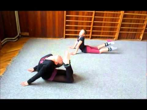 Rhythmic gymnastics stretching & strength training - YouTube